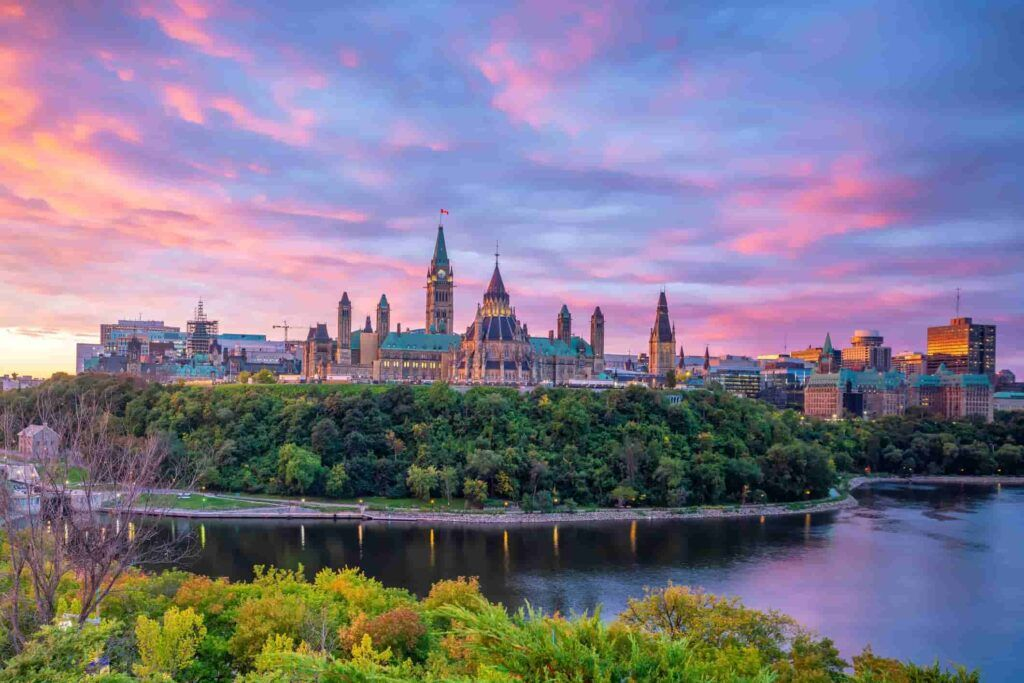 Overview of Ottawa, Canada
